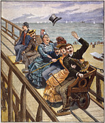Roller Coaster Posters - Switchback Railway, 1886 Poster by Granger