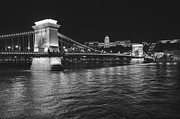 Hungary Framed Prints - Szechenyi Chain Bridge Budapest Framed Print by Alan Toepfer