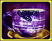 Purple Ceramics - T-cup by Susan Bornstein