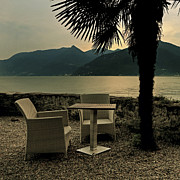 Lake Summer Posters - Table And Chairs Poster by Joana Kruse