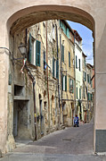 Medieval Framed Prints - Taggia in Liguria Framed Print by Joana Kruse