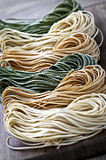 Noodles Photo Prints - Tagliolini pasta Print by Elena Elisseeva