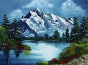 Landscape With Mountains Art - Take A Breath by Barbara Teller