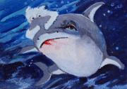 Sharks Paintings - Take a ride on the wild side by Diane Ursin