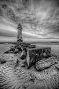 Talacre. Landmark Prints - Talacre Lighthouse Print by Adrian Evans
