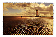 Talacre Framed Prints - Talacre Lighthouse Framed Print by Mal Bray