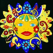 Sun Rays Paintings - Talavera Sun by Melinda Etzold