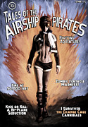 Plane Mixed Media Posters - Tales of the Airship Pirates Poster by Mandem