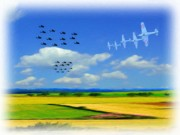 Us Army Air Force Digital Art Posters - Tally Ho Poster by Garry Staranchuk