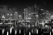Tampa Framed Prints - Tampa Skyline Framed Print by Gary Bydlo