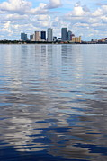 Tampa Skyline Prints - Tampa Skyline over the Bay Print by Carol Groenen