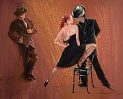 Ballroom Posters - Tango Chair Poster by Lee Goodall