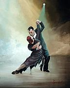 Ballroom Paintings - Tango In The Fog by Lee Goodall