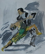 Ballroom Dance Paintings - Tango Passion by Wayne LE ONE