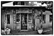 Taos Prints - Taos Artisans Gallery Print by David Patterson