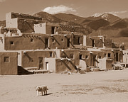 Pueblo De Taos Acrylic Prints - Taos Pueblo Acrylic Print by Joe Wicks