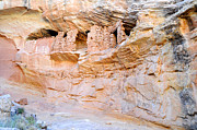 Bulls Photo Metal Prints - Target - Bulls Eye Anasazi Indian Ruins Metal Print by Gary Whitton