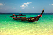 Thai Framed Prints - Taxi Boat Framed Print by Adrian Evans