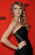 Taylor Swift Metal Prints - Taylor Swift At Arrivals For Time 100 Metal Print by Everett