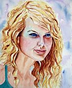 Taylor Swift Painting Framed Prints - Taylor Swift Framed Print by Brian Degnon