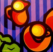 Vibrant Paintings - Tea And Apples by John  Nolan