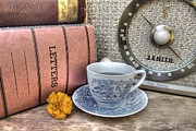 Tea Drinking Prints - Tea Time Print by Jane Linders
