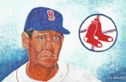 Allstar Metal Prints - Ted Williams Metal Print by William Bowers
