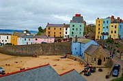 Tam Ryan - Tenby Village and Castle Wall
