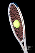 Stroboscopic Photos - Tennis Ball And Racket by Ted Kinsman