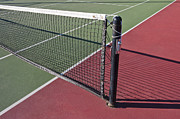 Tennis Court Framed Prints - Tennis Net and Court Framed Print by Thom Gourley/Flatbread Images, LLC