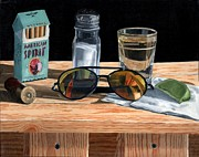 Sunglasses Painting Posters - Tequila with Lime No. 3 Poster by Thomas Weeks
