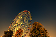 State Fair Photo Prints - Texas Star Ferris Wheel Print by Douglas Barnard
