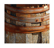 Barrel Digital Art Framed Prints - Textural Abstract 6 Framed Print by Bob Salo