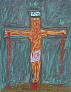 Christ Drawings - Thank  God  For  Good  Friday by Carl Deaville