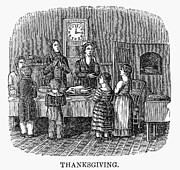 Prayer Room Posters - Thanksgiving, 1853 Poster by Granger
