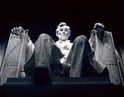 Sculpture Photo Posters - The Abraham Lincoln Statue Poster by Rex A. Stucky