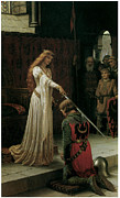 Victorian Era Prints - The Accolade Print by Edmund Blair Leighton