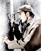 1930s Movies Metal Prints - The Adventures Of Sherlock Holmes Metal Print by Everett