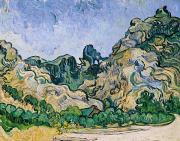 Saint-remy De Provence Prints - The Alpilles Print by Vincent Van Gogh