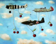 Plane Paintings - The Amazing Race 5 by Leah Saulnier The Painting Maniac