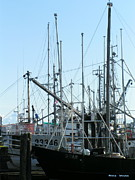 Trawler Metal Prints - The Art of Trawlers Poles Metal Print by Ming Yeung