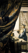Trumpet Paintings - The Artists Studio by Jan Vermeer
