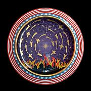 Decoration Ceramics Originals - The Baghdad meteoric shower. by Vladimir Shipelyov