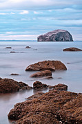 Berwick Posters - The Bass Rock Poster by Amanda Finan