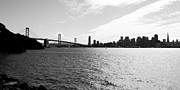 San Francisco Skyline Prints - The Bay Bridge and The San Francisco Skyline Viewed From Treasure Island . 7D7771 Print by Wingsdomain Art and Photography