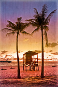 Peach Prints - The Beach Print by Debra and Dave Vanderlaan
