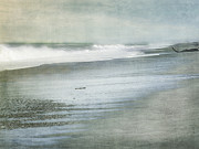 Dark Gray Blue Prints - The Beach Print by Linde Townsend