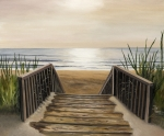 Sea Scape Metal Prints - The Beach Metal Print by Toni  Thorne