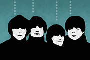 Beatles Mixed Media Acrylic Prints - The Beatles Acrylic Print by Cassius Cassini