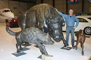 Bison Sculpture Originals - The Best Defense by Peggy Detmers